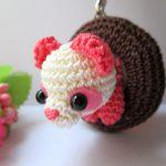 パンダドーナツの編みぐるみ・ピンク