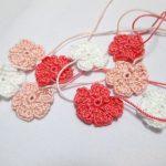 編み小花のバレッタの作り方(1)