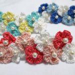 編み小花のバレッタの作り方(2)