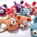 コロコロ動物の編みヘアゴム♪